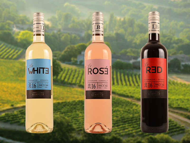 Le Bottle - Le Red, Le White, Le Rosé