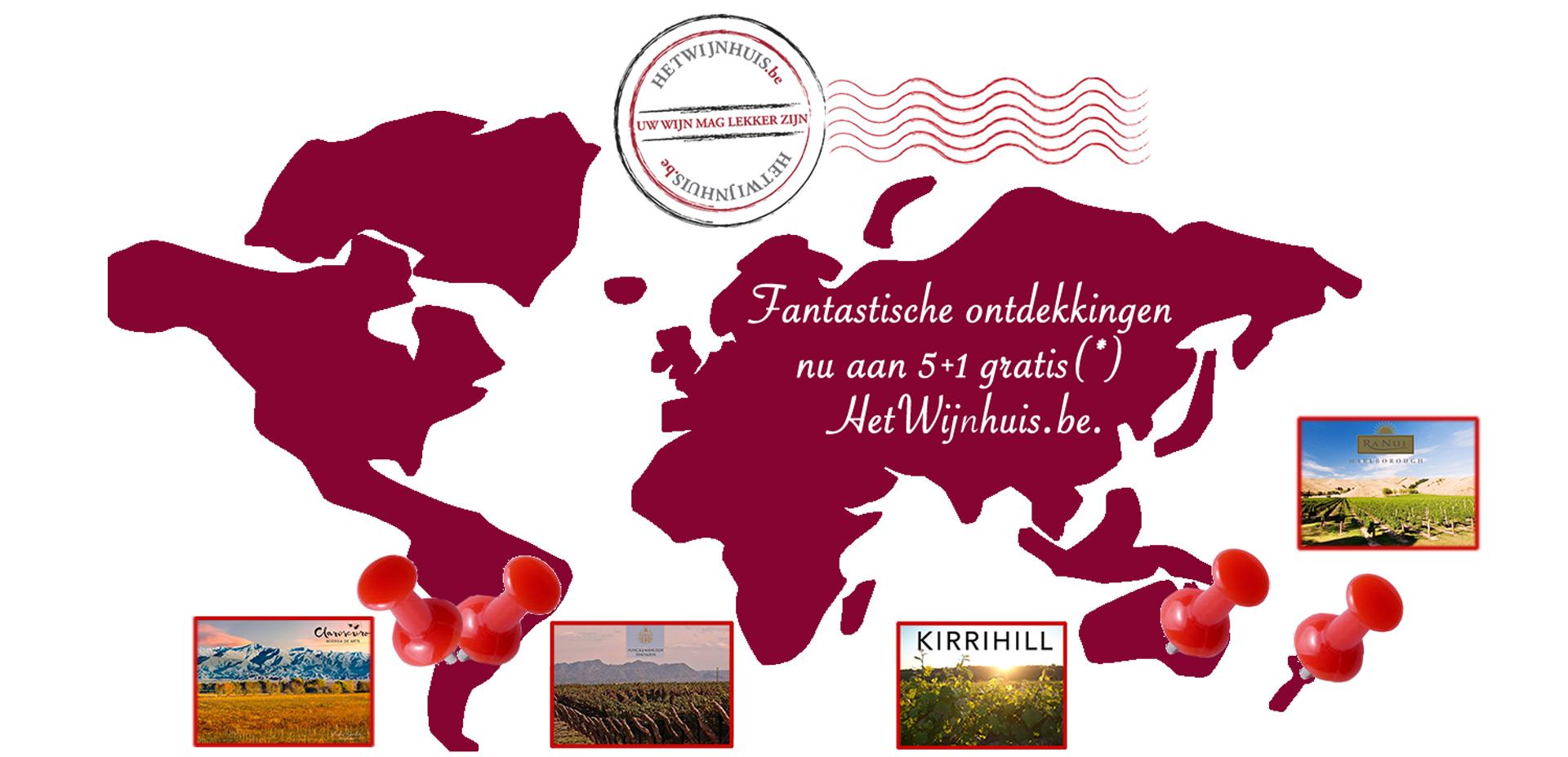 Promo 5+1 gratis Argentinië Australië Nieuw-Zeeland wijn