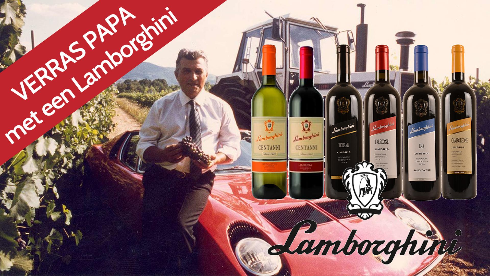 Lamborghini wijn voor vaderdag