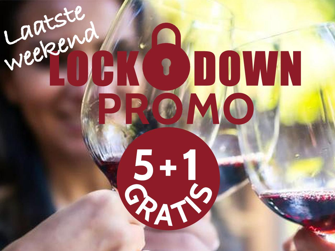 paaswijnen promo 5 + 1 gratis lockdown