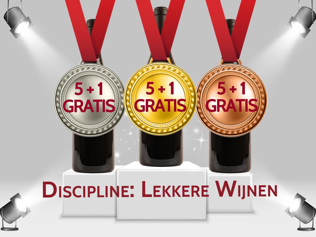 medaille wijnen promo 5+1 gratis