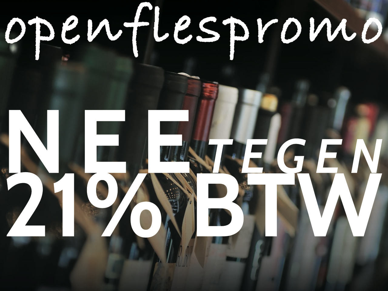 promo openfles 21% BTW korting