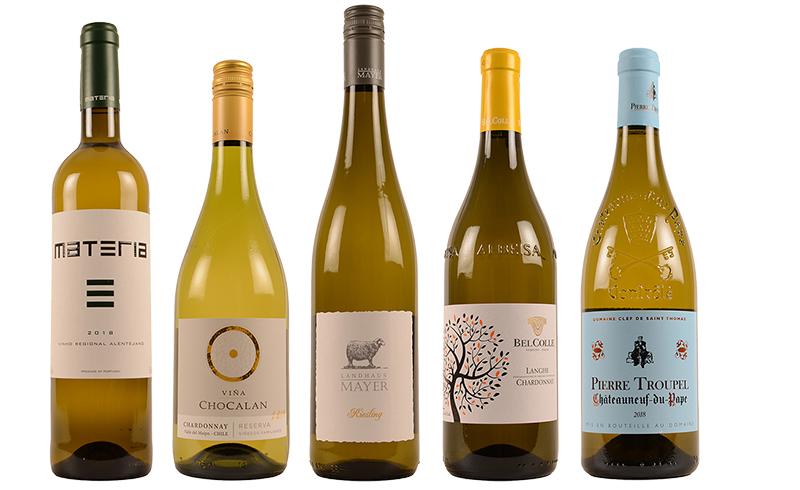 Rog wijnen wit gerecht