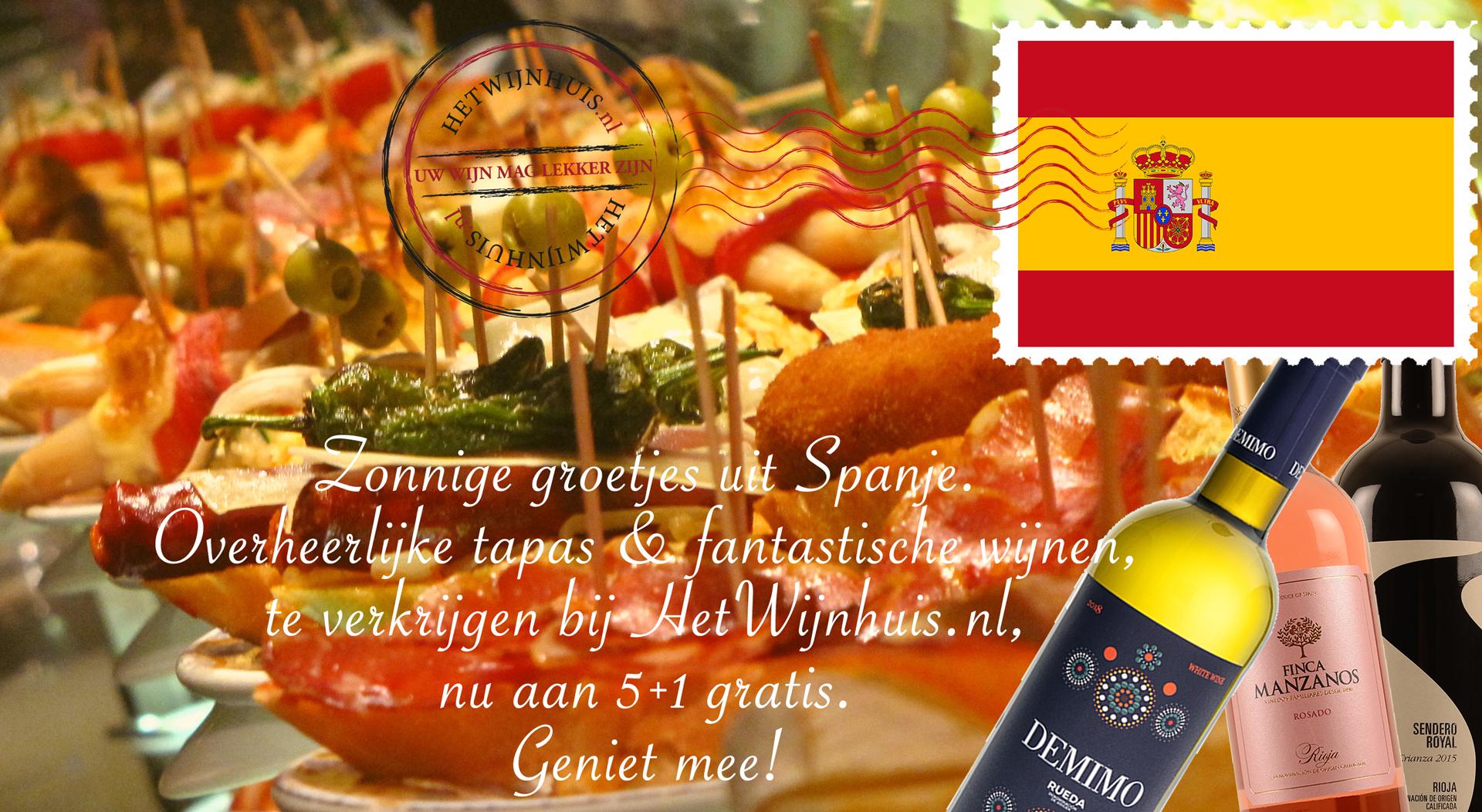 Spanje Wijn Promo 5+1