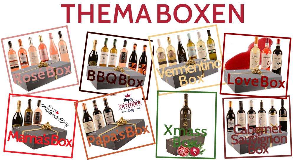 Thema wijn box lekkere wijnen