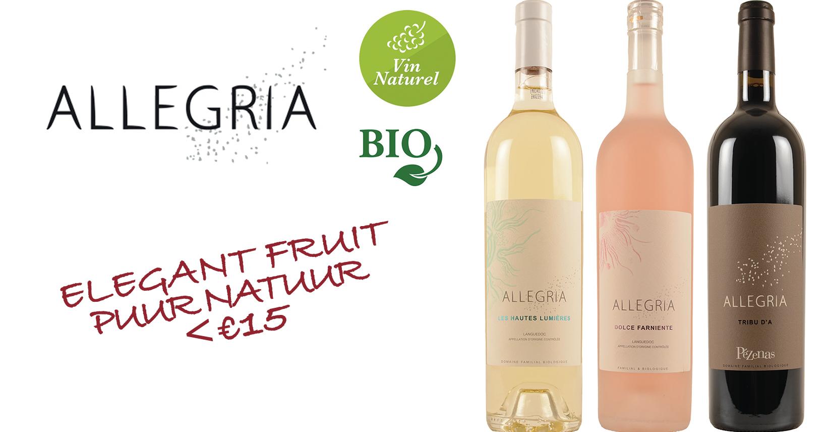 allegria bio natuurwijn frankrijk Promo franse wijn top klasse