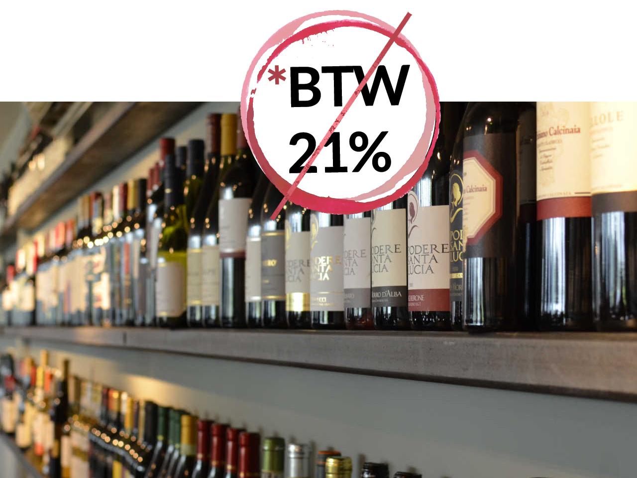 Meer dan 1000 lekkere wijnen aan promoprijs korting 21% BTW