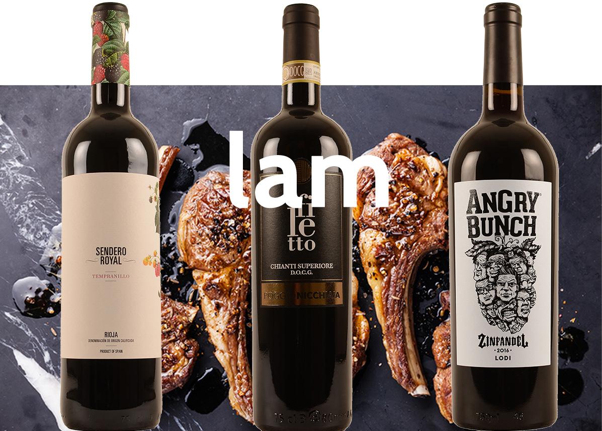wijn bij lam promo 5+1 gratis