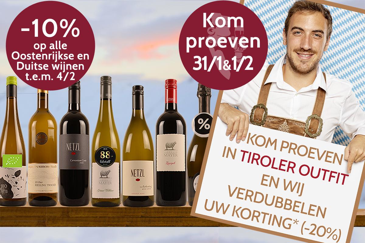Oostenrijkse en Duitse wijnen tasting proeverij