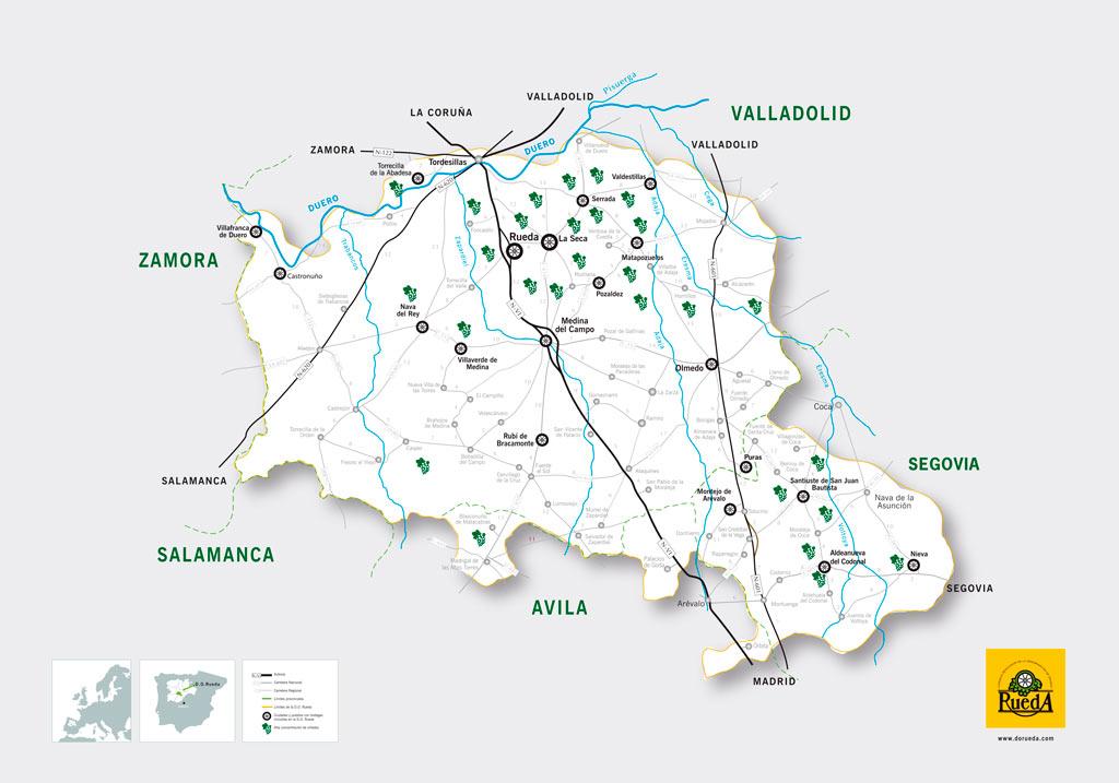 Kaart van Rueda