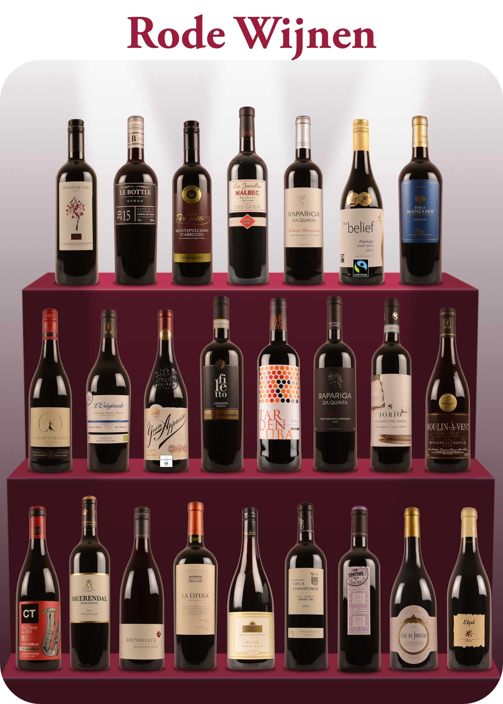Lente Open Fles rode wijnen