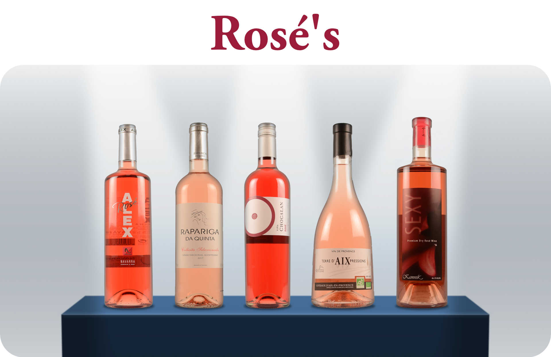 Lente Open Fles Rosé's