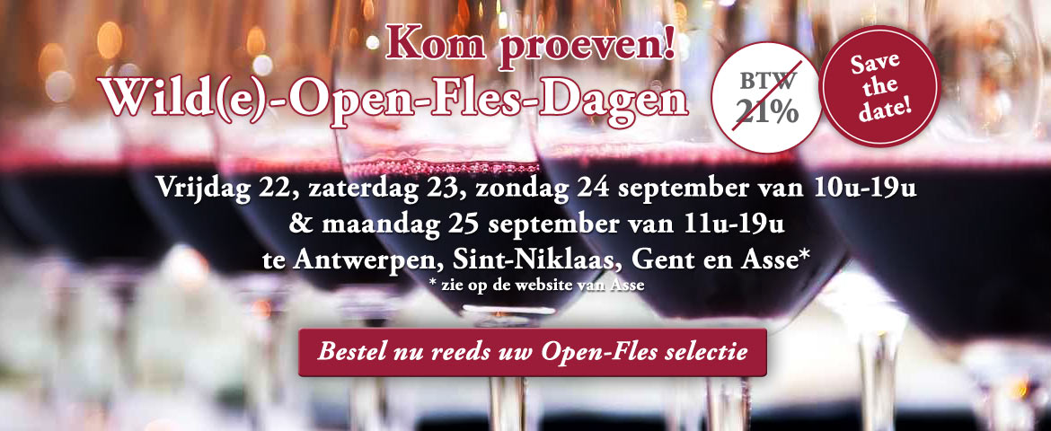 Wilde-Open-Fles-Dagen: Save the date!