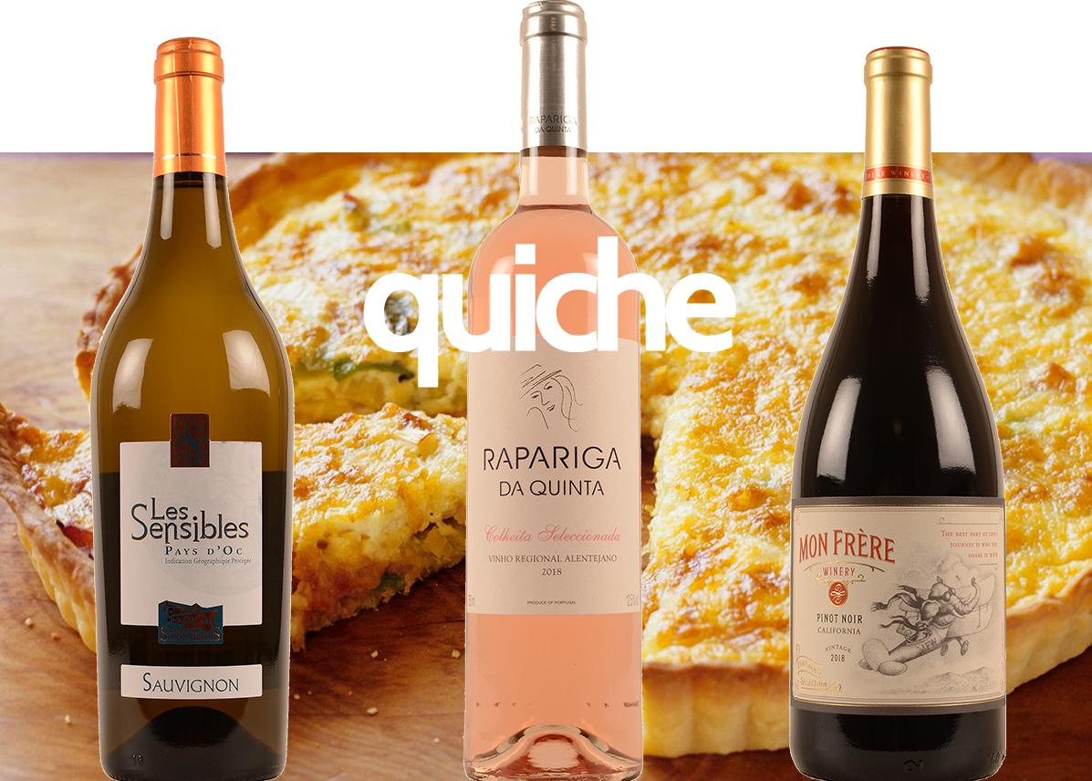 wijnen bij quiche promo gratis