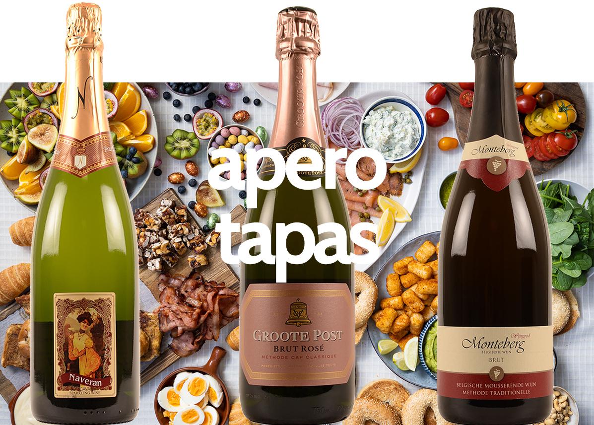 wijnen bubbels promo tapas