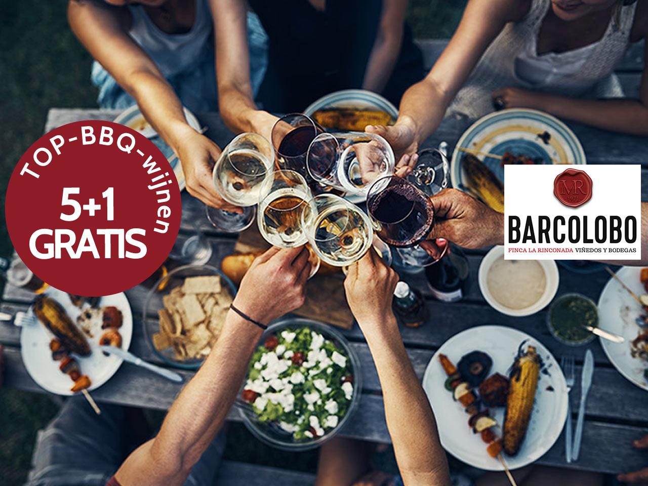 BBQ wijnen promo 5+1 gratis