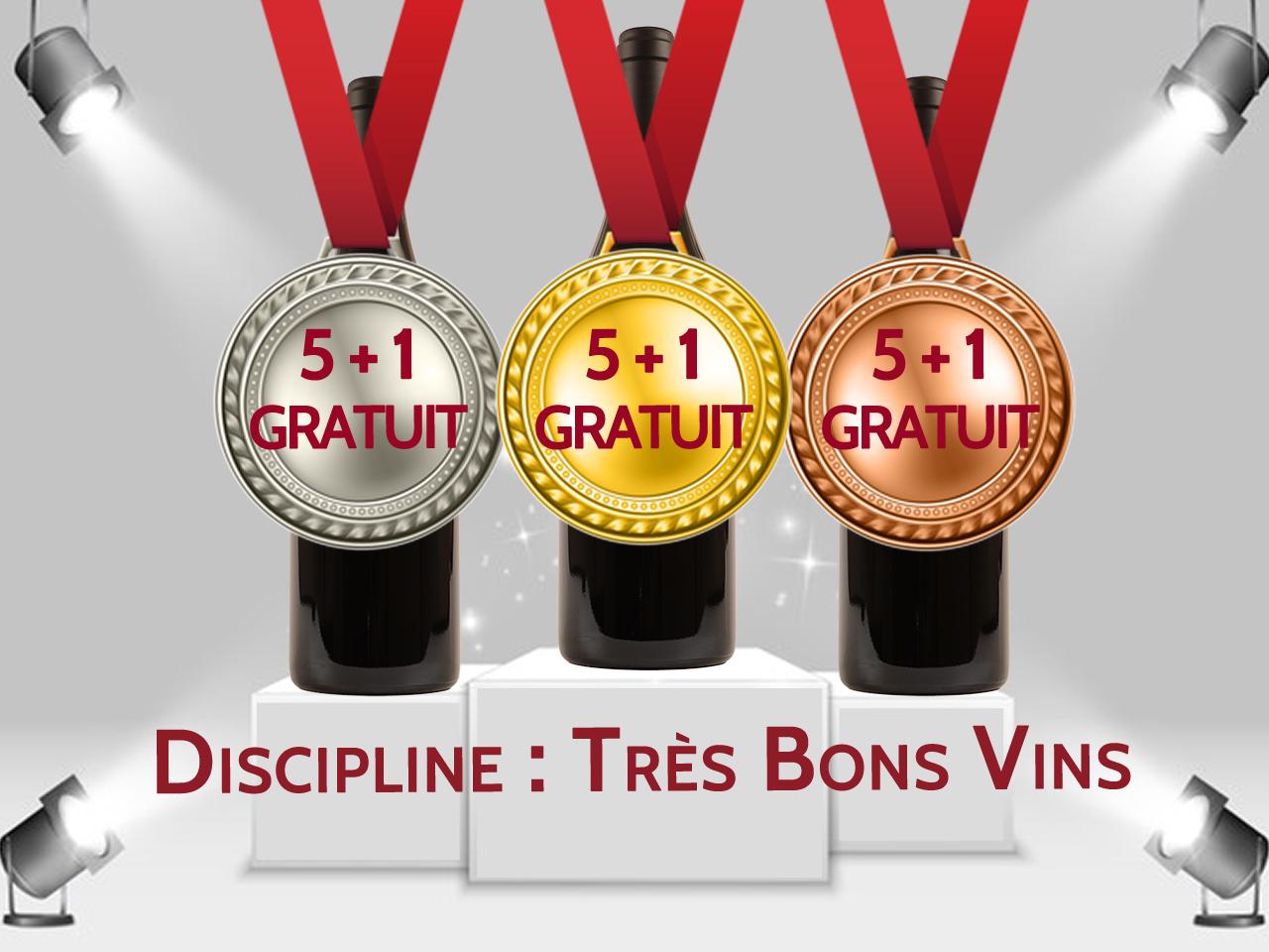Vins medaillez ave promotion 5+1 gratuit