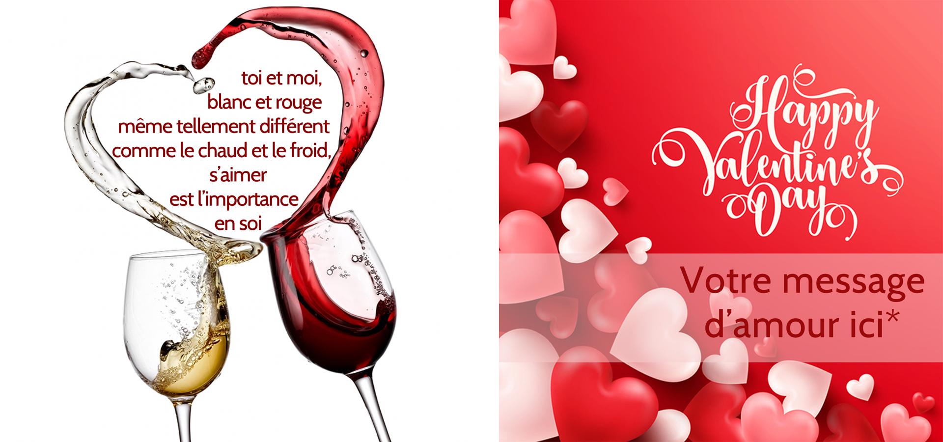Valentin vins romantiques